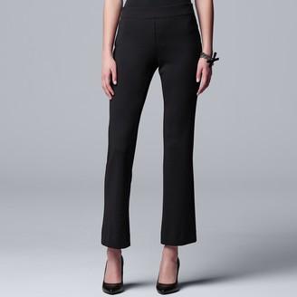 Vera Wang Women's Simply Vera Pull-On Ponte Bootcut Pants
