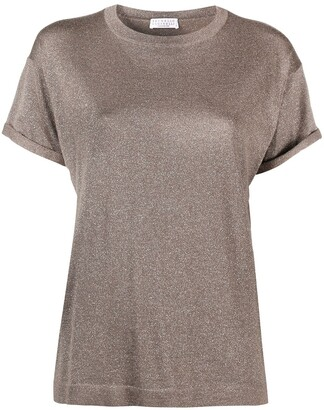 Brunello Cucinelli Rolled-Sleeve T-Shirt