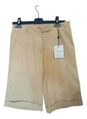 CNC Costume National Beige Cotton Shorts