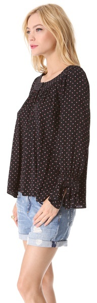 Juicy Couture Geo Swirl Crepe Top