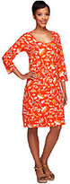 Liz Claiborne New York 3/4 Sleeve Floral Print Knit Dress