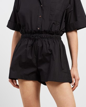 Faithfull The Brand Women's Black High-Waisted - Shelby Shorts - Size XS at The Iconic