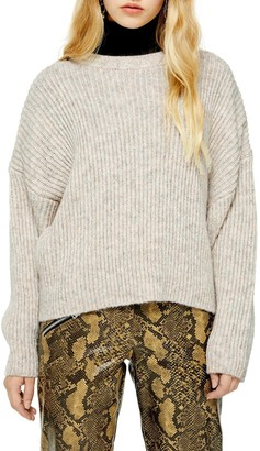 Topshop Cropped Crewneck Sweater