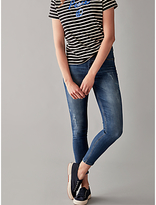 Pieces Five Delly Cropped Skinny Jeans, Medium Blue