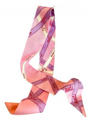 Hermes Twilly 86 Pink Silk Scarves