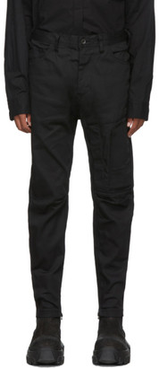 Julius Black Stretch Denim Cargo Pants