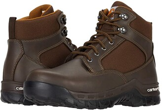 Carhartt 6 Rugged Flex Steel Toe (Dark Brown Leather/Synthetic) Men's Boots