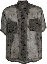 Nahmias sheer paisley print shirt