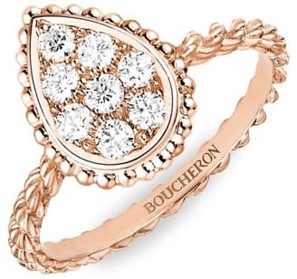 Boucheron Serpent Boheme 18K Rose Gold & Diamond Small Ring