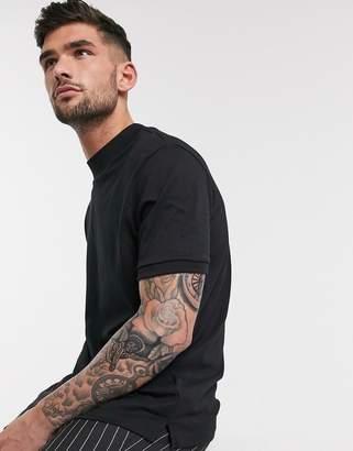 Topman long sleeve roll neck t-shirt in black
