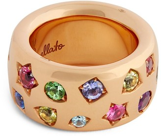 Pomellato Rose Gold, Tanzanite, Sapphire and Ruby Iconica Color Maxi Ring (One Size)