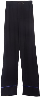 Marni Button Front Contrast Piping Trousers in Navy