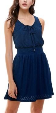 Fishbowl Juniors' Emma Eyelet Tie-Front Dress