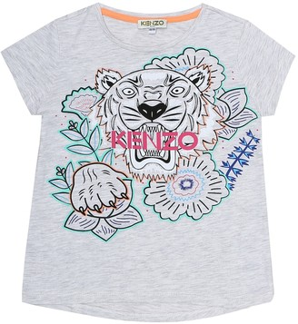 Kenzo Kids Printed cotton-blend T-shirt