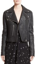 Proenza Schouler Women's Pebbled Leather Moto Jacket