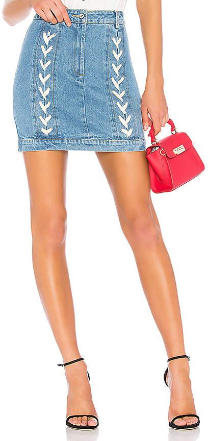 Endless Rose Lace Up Denim Skirt.