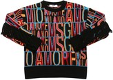 MSGM Logo Jacquard Acrylic Blend Knit Sweater