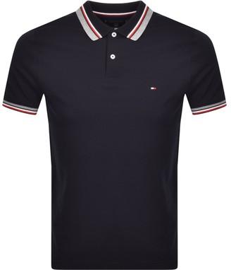 Tommy Hilfiger Jacquard Collar Polo T Shirt Navy