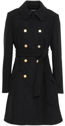 DKNY Double-breasted Wool-blend Felt Coat