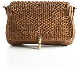 Elizabeth and James Brown Leather Dune Cynnie Mini Crossbody Handbag 90062807