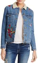 Mavi Jeans Katy Embroidered Denim Trucker Jacket