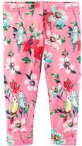 Carter's Girls 4-8 Bird & Floral Leggings