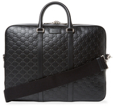 Gucci Debossed Leather Briefcase