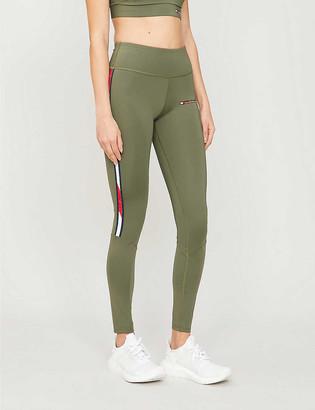 Tommy Sport Logo-print high-rise stretch-jersey leggings