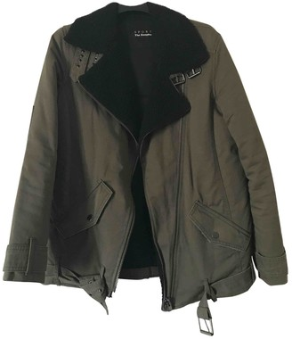 The Kooples Khaki Cotton Coat for Women