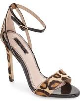 Topshop Raphael New Genuine Calf Hair Leopard Print Sandal (Women)