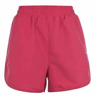 L.A. Gear Womens Woven Shorts Pants Trousers Bottoms Zip Mesh Drawstring Training Pink (M) 12
