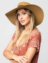 Full Tilt Wide Brim Womens Boater Hat