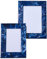 One Kings Lane Asst. of 2 Swirling Picture Frames - Blue