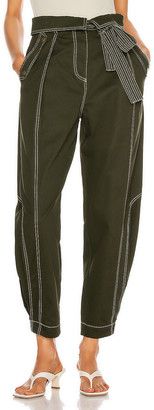 Ulla Johnson Rowen Pant in Forest | FWRD