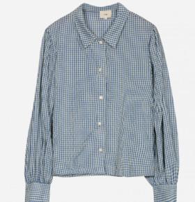 Margaux Blue Gingham Shirt - 12