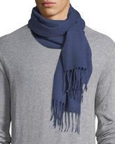 Eton Solid Cashmere Scarf, Blue