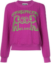 Moschino elephant cable knit sweater
