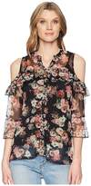 Scully Lucinda Floral Cold Shoulder Top w/ Tank Women's Clothing