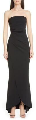 Chiara Boni Chiharu Strapless High/Low Gown