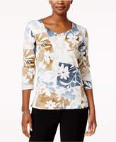 Alfred Dunner Embellished Angled T-Shirt