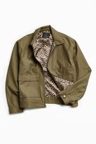 Urban Outfitters Leopard Lined Gas Jacket