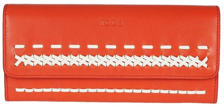 Tod's Stitched Detail Wallet