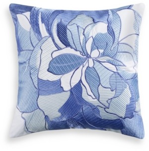 "Charter Club Damask Designs Sketch Floral 16"" x 16"" Decorative Pillow, Created for Macy's Bedding"