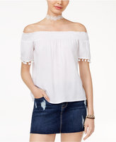 Love, Fire Juniors' Off-The-Shoulder Blouse