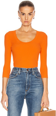 A.L.C. Brandon Top in Tangerine | FWRD