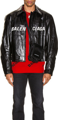 Balenciaga Biker Jacket in Black | FWRD