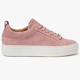 Pieces Paulina Suede Trainers, Ash Rose