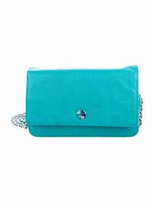 Chanel Caviar CC Wallet On Chain Turquoise