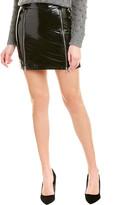 Mason by Michelle Mason Zipper Patent Mini Skirt