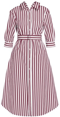 Marni Belted Stripe Cotton Shirtdress